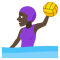 Woman Playing Water Polo: Dark Skin Tone on JoyPixels 4.5
