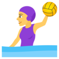 Woman Playing Water Polo on EmojiOne 4.5