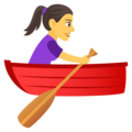 Woman Rowing Boat on EmojiOne 4.5
