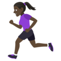 Woman Running: Dark Skin Tone on EmojiOne 4.5