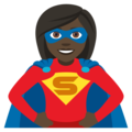 Woman Superhero: Dark Skin Tone on JoyPixels 4.5