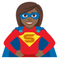 Woman Superhero: Medium-Dark Skin Tone on JoyPixels 4.5