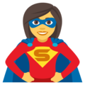 Woman Superhero on EmojiOne 4.5