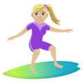 Woman Surfing: Medium-Light Skin Tone on EmojiOne 4.5