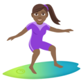 Woman Surfing: Medium-Dark Skin Tone on EmojiOne 4.5