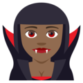 Woman Vampire: Medium-Dark Skin Tone on JoyPixels 4.5