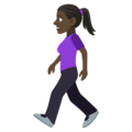 Woman Walking: Dark Skin Tone on EmojiOne 4.5