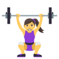Woman Lifting Weights on EmojiOne 4.5