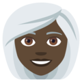 Woman: Dark Skin Tone, White Hair on EmojiOne 4.5