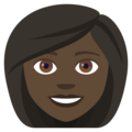 Woman: Dark Skin Tone on EmojiOne 4.5