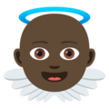 Baby Angel: Dark Skin Tone on JoyPixels 5.0