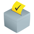 Ballot Box With Ballot on JoyPixels 5.0