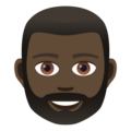 Man: Dark Skin Tone, Beard on JoyPixels 5.0
