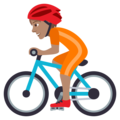 Person Biking: Medium Skin Tone on JoyPixels 5.0