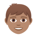 Boy: Medium Skin Tone on JoyPixels 5.0