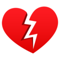 Broken Heart on JoyPixels 5.0