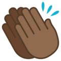 Clapping Hands: Medium-Dark Skin Tone on JoyPixels 5.0
