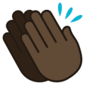 Clapping Hands: Dark Skin Tone on JoyPixels 5.0