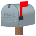 Closed Mailbox With Raised Flag on JoyPixels 5.0