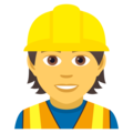 Construction Worker on JoyPixels 5.0