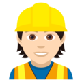 Construction Worker: Light Skin Tone on JoyPixels 5.0