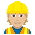 Construction Worker: Medium-Light Skin Tone on JoyPixels 5.0