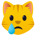 Crying Cat Face on JoyPixels 5.0