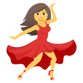 Woman Dancing on JoyPixels 5.0