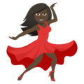 Woman Dancing: Dark Skin Tone on JoyPixels 5.0