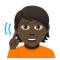 Deaf Person: Dark Skin Tone on JoyPixels 5.0
