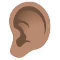 Ear: Medium Skin Tone on JoyPixels 5.0