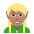 Elf: Medium Skin Tone on JoyPixels 5.0
