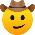 Cowboy Hat Face on JoyPixels 5.0