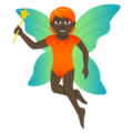Fairy: Dark Skin Tone on JoyPixels 5.0