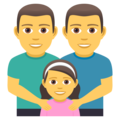 Family: Man, Man, Girl on JoyPixels 5.0