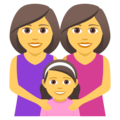 Family: Woman, Woman, Girl on JoyPixels 5.0