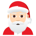 Santa Claus: Light Skin Tone on JoyPixels 5.0