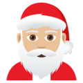 Santa Claus: Medium-Light Skin Tone on JoyPixels 5.0