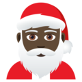 Santa Claus: Dark Skin Tone on JoyPixels 5.0