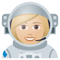 Woman Astronaut: Medium-Light Skin Tone on JoyPixels 5.0