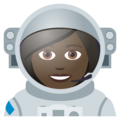 Woman Astronaut: Dark Skin Tone on JoyPixels 5.0