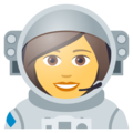 Woman Astronaut on JoyPixels 5.0