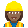 Woman Construction Worker: Medium-Dark Skin Tone on JoyPixels 5.0