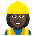 Woman Construction Worker: Dark Skin Tone on JoyPixels 5.0