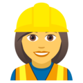 Woman Construction Worker on JoyPixels 5.0