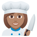 Woman Cook: Medium Skin Tone on JoyPixels 5.0