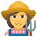 Woman Farmer on JoyPixels 5.0