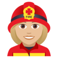 Woman Firefighter: Medium-Light Skin Tone on JoyPixels 5.0