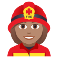 Woman Firefighter: Medium Skin Tone on JoyPixels 5.0