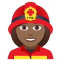 Woman Firefighter: Medium-Dark Skin Tone on JoyPixels 5.0